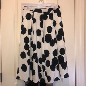 Who What Wear Polka Dotted Skirt